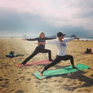 Denise beach yoga class